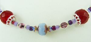 Dyed Jade and Czech Glass necklace – Pale Purple 5