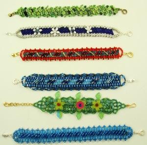 gruop woven bracelets